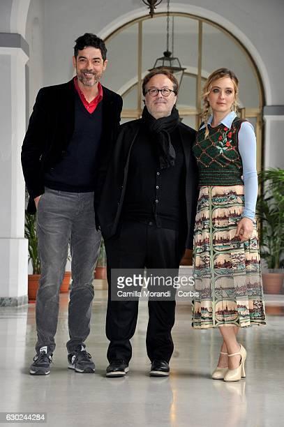 Alessandro Gassmann Carlo Carlei and Carolina Crescentini attends a photocall for 'Bastardi Di Pizzofalcone' Tv Series Photocall on December 19 2016...