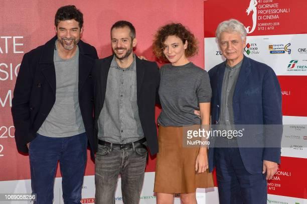 Alessandro Gassmann Simone Godano Jasmine Trinca Fabrizio Bentivoglio attends a photocall during the 41th Giornate Professionali del Cinema Sorrento...