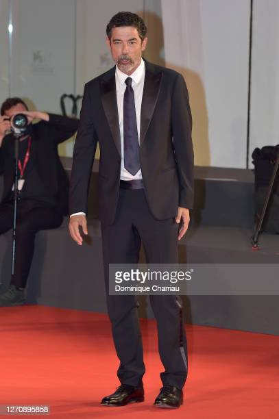 "Alessandro Gassmann walks the red carpet ahead of the movie ""Miss Marx"" at the 77th Venice Film Festival on September 05, 2020 in Venice, Italy."