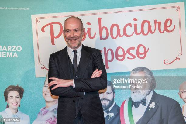 Alessandro Genoveseattends a photocall for 'Puoi Baciare Lo Sposo' on February 28 2018 in Milan Italy