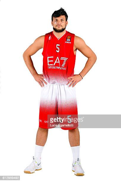 Alessandro Gentile #5 of EA7 Emporio Armani Milan poses during the 2016/2017 Turkish Airlines EuroLeague Media Day at Kombank Arena on October 5 2016...
