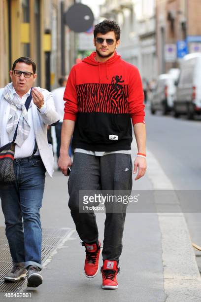 Alessandro Gentile is seen on May 6 2014 in Milan Italy