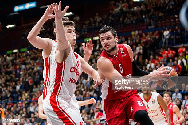 Alessandro Gentile of EA7 Emporio Armani during their match against Cedevita Zagabria at Euroleague Basketball Round 4.