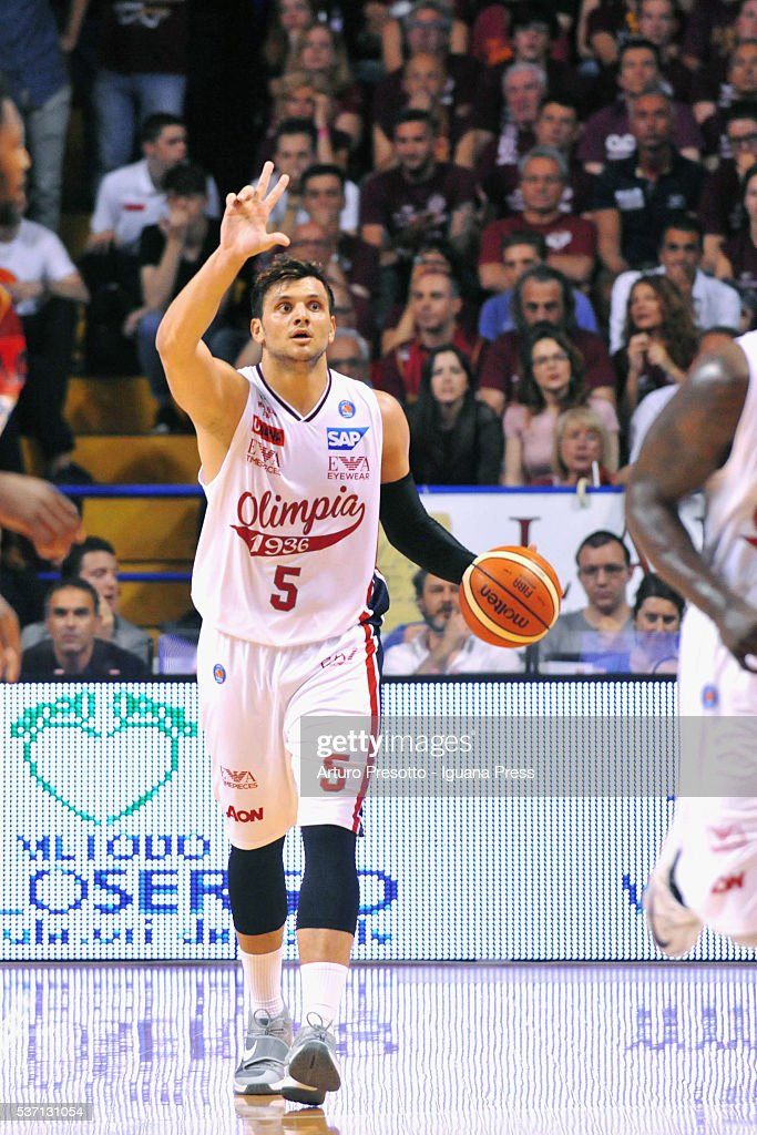 Alessandro Gentile of EA7 in action during the LegaBsaket Serie A match between Reyer Umana Venezia and EA7 Emporio Armani Olimpia Milano at Palasport Taliercio on May 29, 2016 in Mestre, Italy.