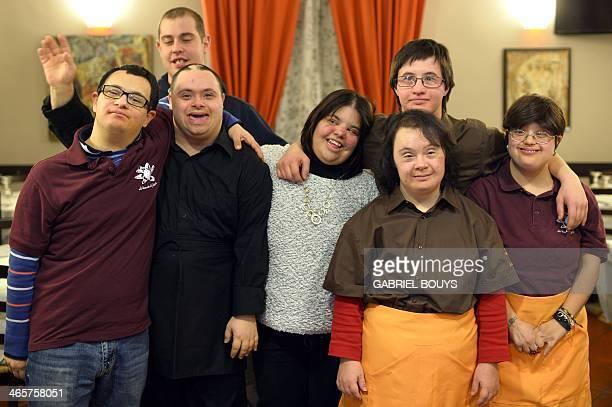Alessandro Giusto Marco Duella Ettore Tommasetti Anna Tagliabue Viviana Polselli Simone Ippoliti and Emanuela Annini young people with Down syndrome...