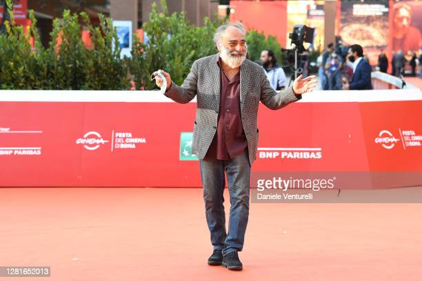 Alessandro Haber walks the red carpet during the 15th Rome Film Festival on October 22, 2020 in Rome, Italy.