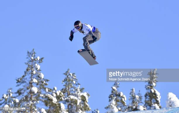 Alessandro Haemmerle of Austria in action during the FIS Freestyle Ski Cross And Snowboard Cross World Championships Men's and Women's Snowboard...