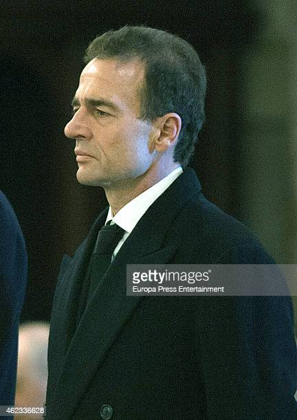 Alessandro Lequio attends the funeral service for Princess Sandra Torlonia grand daughter of King Alfonso XIII of Spain on January 08 2015 in Turin...