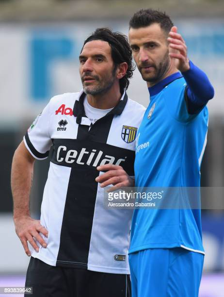 Alessandro Lucarelli of Parma Calcio and Andrea Esposito of AC Cesena during the Serie B match between Parma Calcio and AC Cesena at Stadio Ennio...