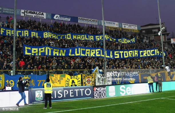 Alessandro Lucarelli of Parma Calcio celebrates after the Serie B match between Parma Calcio and Ascoli Picchio at Stadio Ennio Tardini on November...