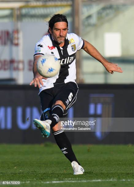 Alessandro Lucarelli of Parma Calcio in action during the Serie B match between Parma Calcio and Ascoli Picchio at Stadio Ennio Tardini on November...