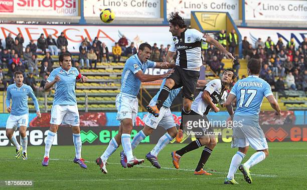 Alessandro Lucarelli of Parma FC scores his goal during the Serie A match between Parma FC and SS Lazio at Stadio Ennio Tardini on November 10, 2013...