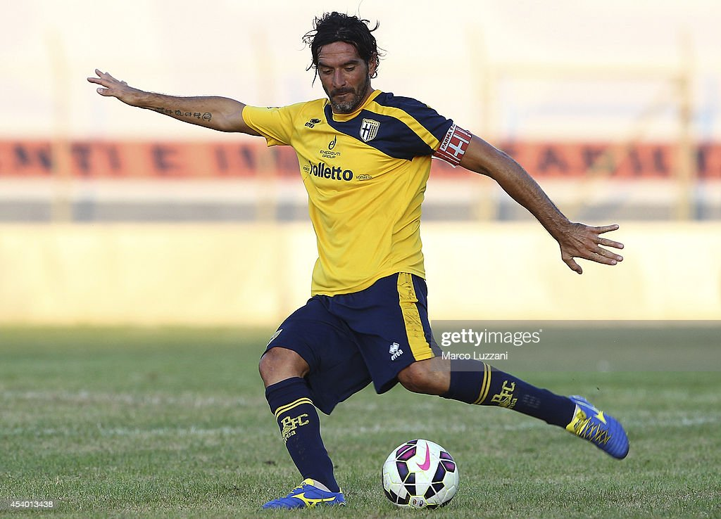 Alessandro Lucarelli of Parma in action during the pre-season friendly match between Carpi FC and FC Parma at Stadio Sandro Cabassi on August 23, 2014 in Carpi, Italy.