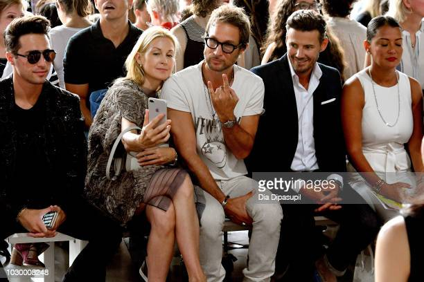 Alessandro Magni Kelly Rutherford Anthony Giovanni Deane Alex Lundqvist and Keytt Lundqvist attend the Son Jung Wan Front Row during New York Fashion...