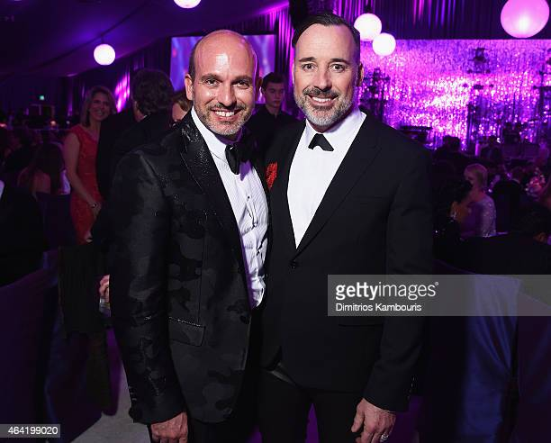 Alessandro Maria Ferreri and David Furnish attend the 23rd Annual Elton John AIDS Foundation Academy Awards Viewing Party on February 22 2015 in Los...