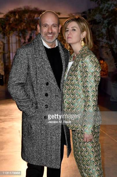 Alessandro Maria Ferreri and Diana Palomba attend the Luisa Beccaria show during Milan Fashion Week Autumn/Winter 2019/20 on February 21 2019 in...