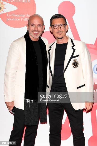 Alessandro Maria Ferreri and Marco Bonaldo and attends Convivio photocall on June 5 2018 in Milan Italy