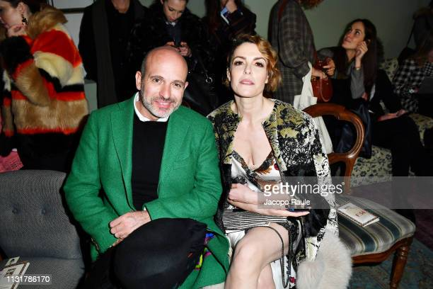 Alessandro Maria Ferreri and Maria Mantero attend the Antonio Marras show at Milan Fashion Week Autumn/Winter 2019/20 on February 24 2019 in Milan...