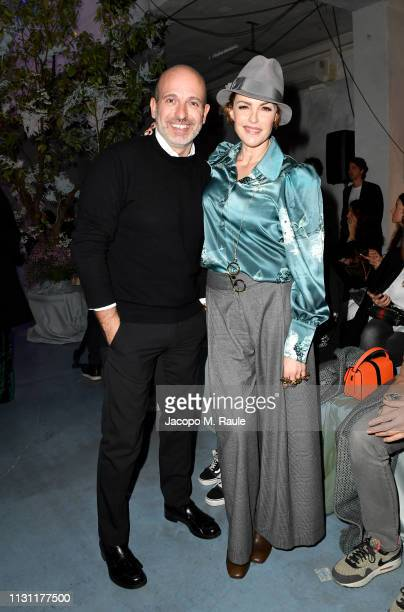 Alessandro Maria Ferreri and Maria Mantero attend the Luisa Beccaria show during Milan Fashion Week Autumn/Winter 2019/20 on February 21 2019 in...