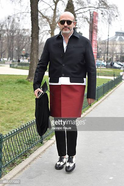Alessandro Maria Ferreri arrives at Chanel Fashion Show during Paris Fashion Week Fall Winter 2015/2016 on March 10 2015 in Paris France