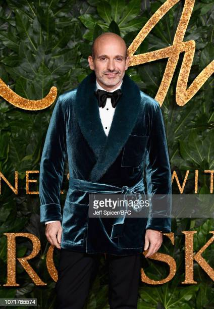 Alessandro Maria Ferreri arrives at The Fashion Awards 2018 In Partnership With Swarovski at Royal Albert Hall on December 10 2018 in London England