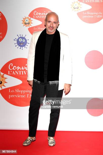 Alessandro Maria Ferreri attends Convivio photocall on June 5 2018 in Milan Italy