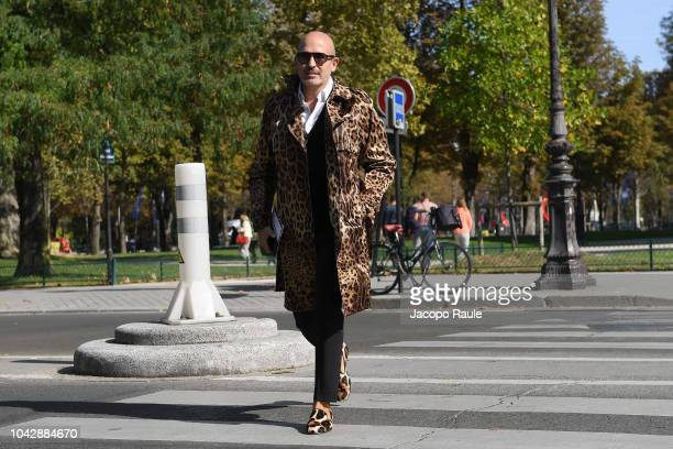 Alessandro Maria Ferreri attends the ELie Saab show as part of the Paris Fashion Week Womenswear Spring/Summer 2019 on September 29 2018 in Paris...