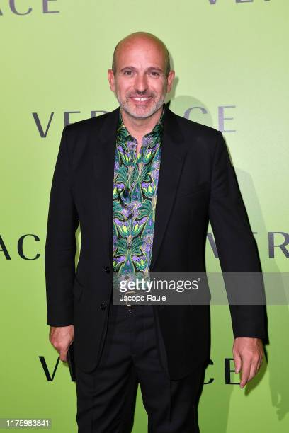 Alessandro Maria Ferreri attends the Versace fashion show during the Milan Fashion Week Spring/Summer 2020 on September 20 2019 in Milan Italy