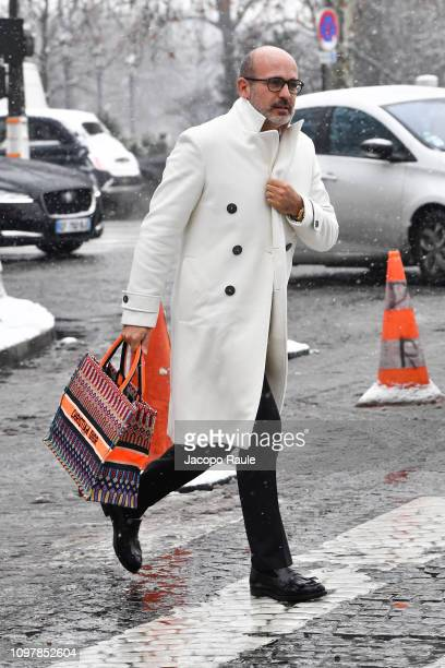 Alessandro Maria Ferreri is seen arriving at Chanel fashion show during Paris Fashion Week Haute Couture Spring Summer 2020 on January 22 2019 in...