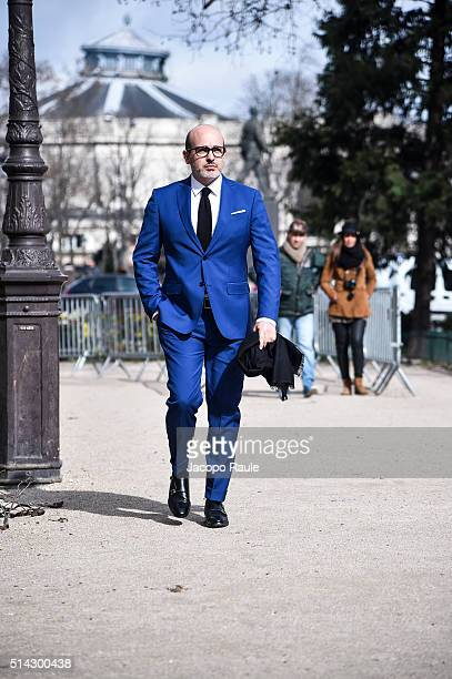 Alessandro Maria Ferreri is seen arriving at Chanel Fashion show during Paris Fashion Week Womenswear Fall Winter 2016/2017 on March 8 2016 in Paris...