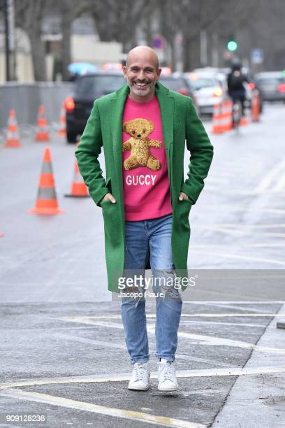 Alessandro Maria Ferreri is seen arriving at Chanel Fashion show during Paris Fashion Week Haute Couture Spring/Summer 2018 on January 23 2018 in...