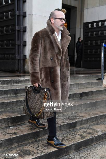 Alessandro Maria Ferreri is seen arriving at Elie Saab during Paris Fashion Week Haute Couture Spring Summer 2020 on January 23 2019 in Paris France