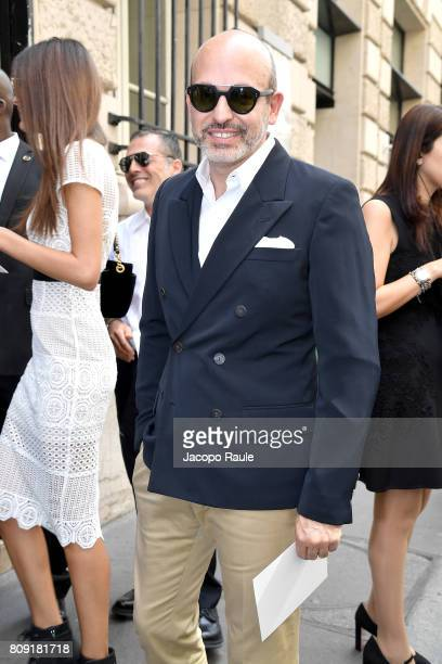 Alessandro Maria Ferreri is seen arriving at Elie Saab fashion show during the Paris Fashion Week Haute Couture Fall/Winter 20172018 on July 5 2017...