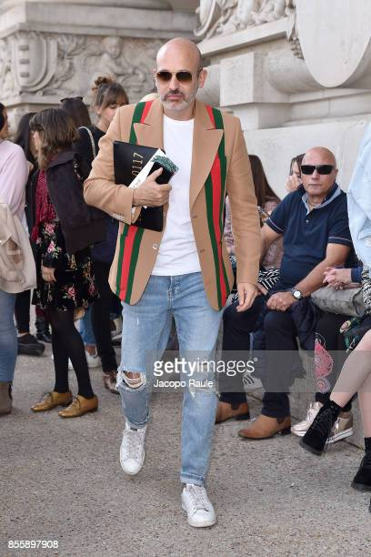 Alessandro Maria Ferreri is seen arriving at Elie Saabfashion show during the Paris Fashion Week Womenswear Spring/Summer 2018 on September 30 2017...