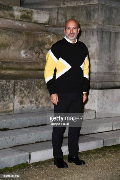 Alessandro Maria Ferreri is seen arriving at Giambattista Valli show during Paris Fashion Week Haute Couture Spring/Summer 2018 on January 22 2018 in...