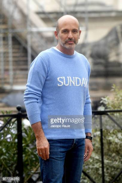 Alessandro Maria Ferreri is seen arriving at Givenchy fashion show during Paris Fashion Week Womenswear Fall/Winter 2018/2019 on March 4 2018 in...