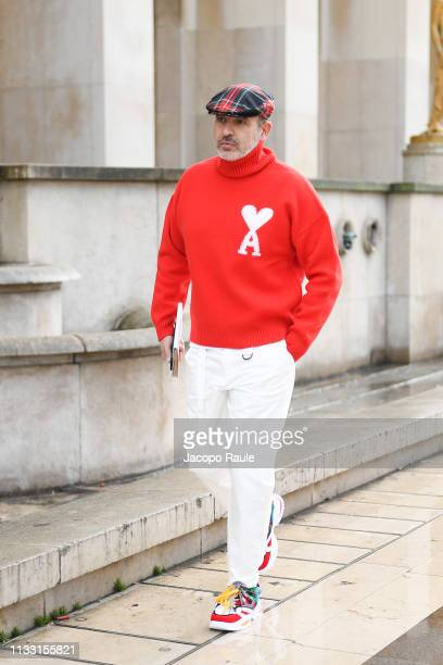 Alessandro Maria Ferreri is seen arriving at Haider Hackermann fashion show during Paris Fashion Week Womenswear Fall/Winter 2019/2020 on March 02...