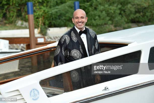 Alessandro Maria Ferreri is seen arriving at Hotel Excelsior during the 74 Venice Film Festival on September 2 2017 in Venice Italy