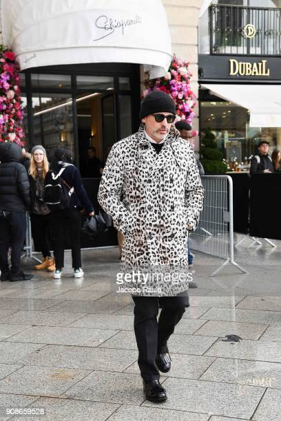 Alessandro Maria Ferreri is seen arriving at Schiaparelli Fashion show during Paris Fashion Week Haute Couture Spring/Summer 2018 on January 22 2018...