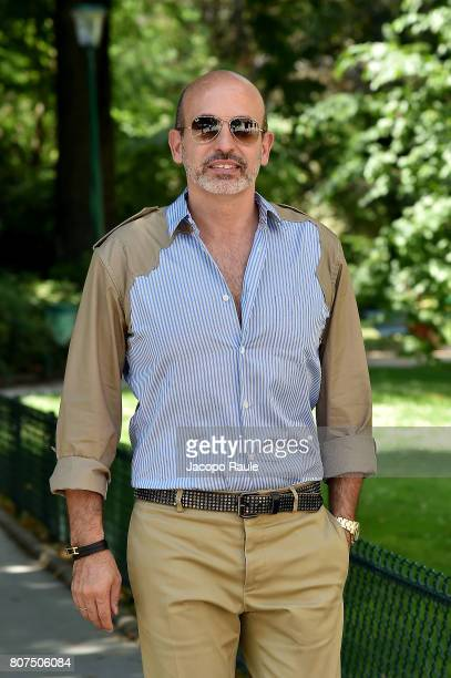 Alessandro Maria Ferreri is seen arriving at the 'Chanel' show during Paris Fashion Week Haute Couture Fall/Winter 20172018 on July 4 2017 in Paris...