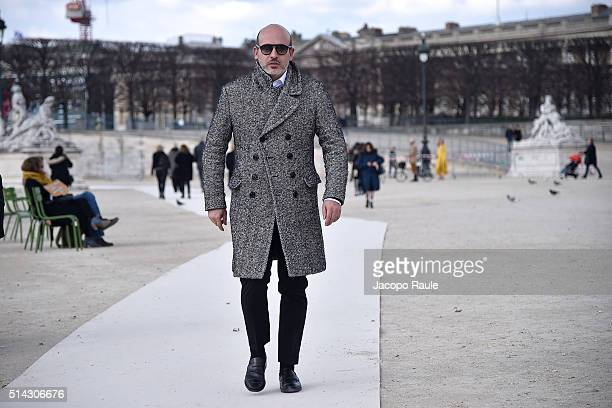 Alessandro Maria Ferreri is seen arriving at Valentino Fashion show during Paris Fashion Week Womenswear Fall Winter 2016/2017 on March 8 2016 in...