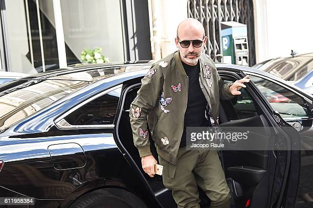 Alessandro Maria Ferreri is seen arriving at Valentino Fashion show during Paris Fashion Week Spring/Summer 2017 on October 2 2016 in Paris France