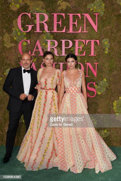Alessandro Maria Ferreri Lucrezia Bonaccorsi and Lucilla Bonaccorsi attend The Green Carpet Fashion Awards Italia 2018 at Teatro Alla Scala on...