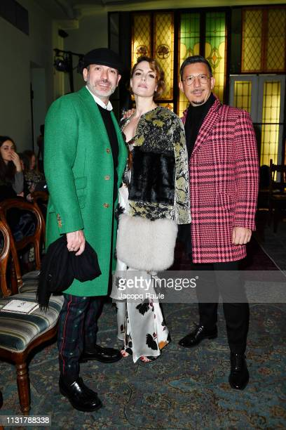 Alessandro Maria Ferreri Maria Mantero and Marco Bonaldo attend the Antonio Marras show at Milan Fashion Week Autumn/Winter 2019/20 on February 24...