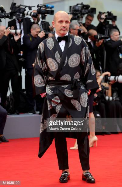 Alessandro Maria Ferreri walks the red carpet ahead of the 'Suburbicon' screening during the 74th Venice Film Festival at Sala Grande on September 2...