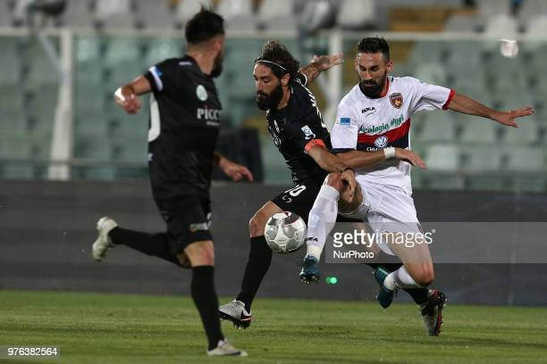 Alessandro Marotta of Robur Siena compete for the ball during the Lega Pro 17/18 Playoff final match between Robur Siena and Cosenza Calcio at Stadio...
