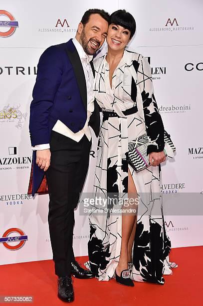 Alessandro Martorana and Ana Laura Ribas attend Alessandro Martorana Birthday Party held at La Permanente on January 28 2016 in Milan Italy