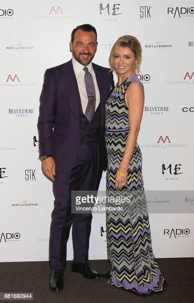 Alessandro Martorana and Elena Barolo attend Alessandro Martorana's 'Spring Party' on May 10 2017 in Milan Italy