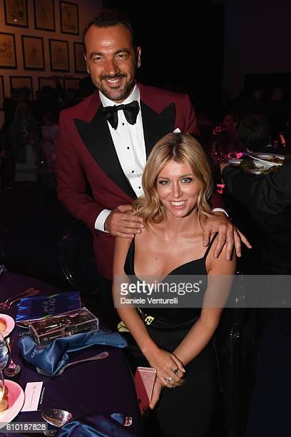 Alessandro Martorana and Elena Barolo attend the dinner of amfAR Milano 2016 at La Permanente on September 24 2016 in Milan Italy