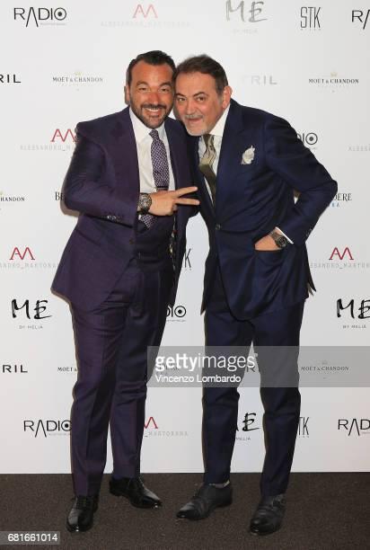 Alessandro Martorana and guest attend Alessandro Martorana's 'Spring Party' on May 10 2017 in Milan Italy